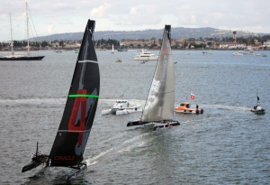 Racing at the America's Cup World Series in San Diego