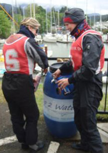 Zip 2 water station being used at ICSA College Nationals