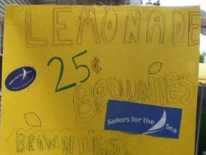 Lemonade sign for Sailors for the Sea