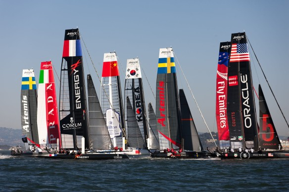 Practice Racing Day 1 of ACWS San Francisco. Photo by ACEA/Gilles Martin-Raget