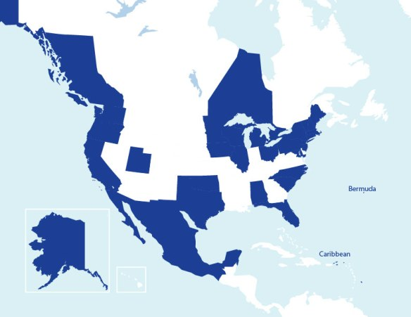 Sailors for the Sea 2012 Programs Map North America