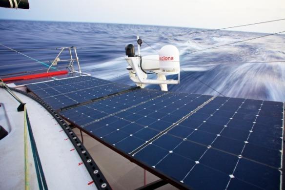 Solar panels aboard ACCIONA. © Jesus Renedo / ACCIONA