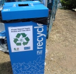 Recycling available for cans & water bottles